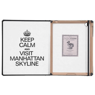 KEEP CALM AND VISIT MANHATTAN SKYLINE iPad FOLIO COVER