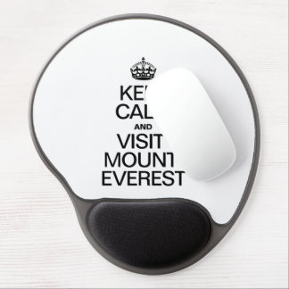 KEEP CALM AND VISIT MOUNT EVEREST GEL MOUSE PAD