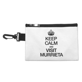 KEEP CALM AND VISIT MURRIETA ACCESSORY BAGS