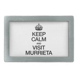 KEEP CALM AND VISIT MURRIETA BELT BUCKLES