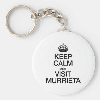 KEEP CALM AND VISIT MURRIETA BASIC ROUND BUTTON KEY RING