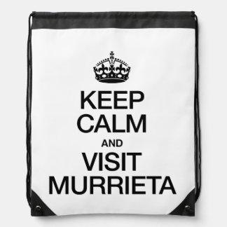 KEEP CALM AND VISIT MURRIETA CINCH BAG