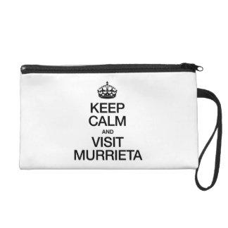 KEEP CALM AND VISIT MURRIETA WRISTLET CLUTCHES