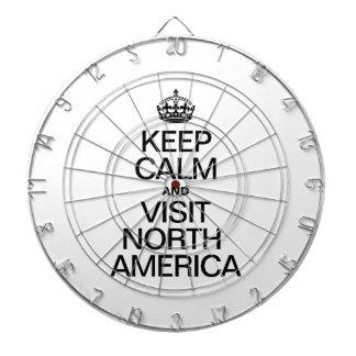 KEEP CALM AND VISIT NORTH AMERICA DARTBOARD