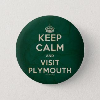 'Keep Calm and Visit Plymouth' Badge