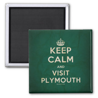 'Keep Calm and Visit Plymouth' Magnet