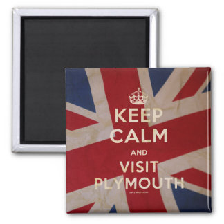 Keep Calm and Visit Plymouth Magnet