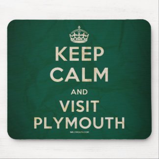 'Keep Calm and Visit Plymouth' Mousemat