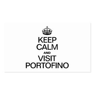 KEEP CALM AND VISIT PORTOFINO BUSINESS CARD TEMPLATES