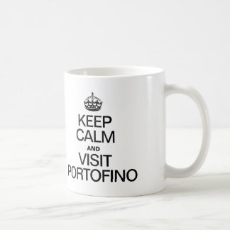 KEEP CALM AND VISIT PORTOFINO COFFEE MUGS