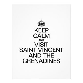 KEEP CALM AND VISIT SAINT VINCENT AND THE GRENADIN FLYER