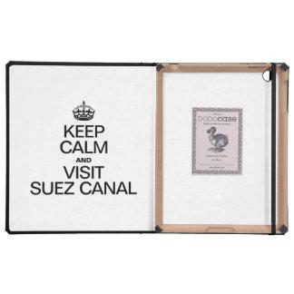 KEEP CALM AND VISIT SUEZ CANAL iPad FOLIO CASES
