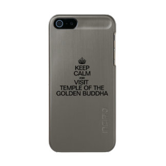 KEEP CALM AND VISIT TEMPLE OF THE GOLDEN BUDDHA INCIPIO FEATHER® SHINE iPhone 5 CASE