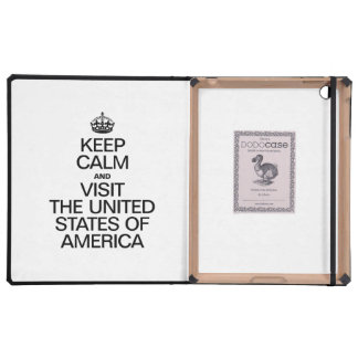 KEEP CALM AND VISIT THE UNITED STATES OF AMERICA. iPad COVERS