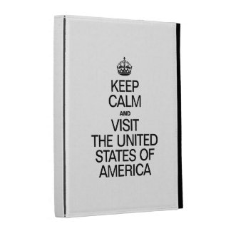KEEP CALM AND VISIT THE UNITED STATES OF AMERICA. iPad FOLIO CASES