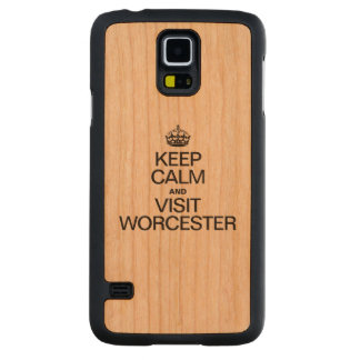 KEEP CALM AND VISIT WORCESTER CARVED® CHERRY GALAXY S5 SLIM CASE