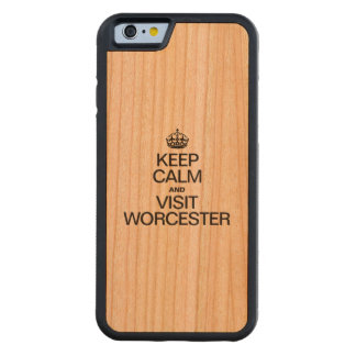 KEEP CALM AND VISIT WORCESTER CARVED® CHERRY iPhone 6 BUMPER CASE
