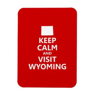 Keep Calm and Visit Wyoming Rectangular Photo Magnet