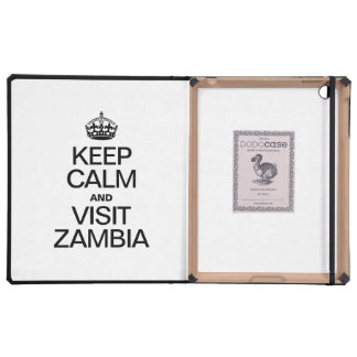 KEEP CALM AND VISIT ZAMBIA iPad COVERS