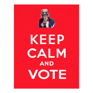 Keep Calm and Vote 21.5 Cm X 28 Cm Flyer