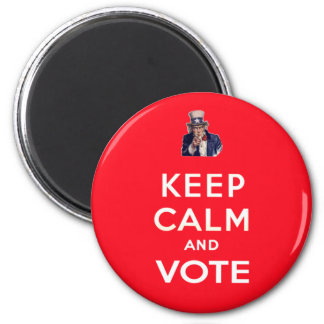 Keep Calm and Vote 6 Cm Round Magnet