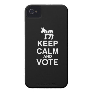KEEP CALM AND VOTE DEMOCRAT.png iPhone 4 Covers