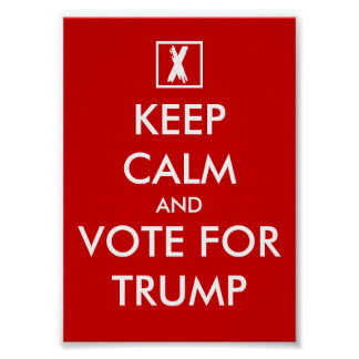 Keep calm and vote for DONALD TRUMP posters