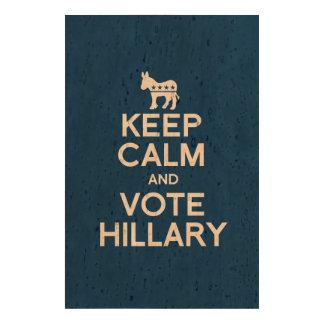 KEEP CALM AND VOTE HILLARY 2016 QUEORK PHOTO PRINT