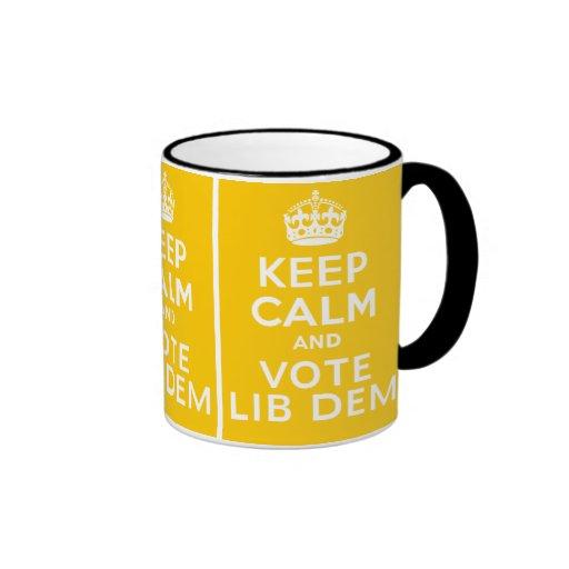 Keep Calm And Vote Lib Dem ~ Political U.K Coffee Mugs