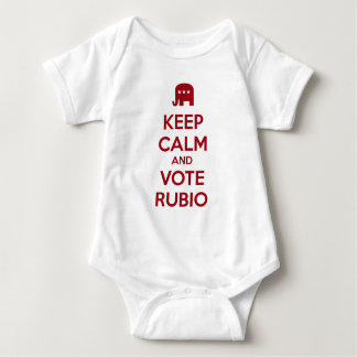 Keep Calm and Vote Marco Rubio Baby Bodysuit