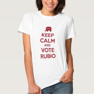 Keep Calm and Vote Marco Rubio Tee Shirt