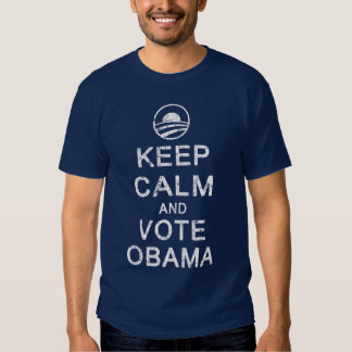 Keep Calm and Vote Obama T-shirts