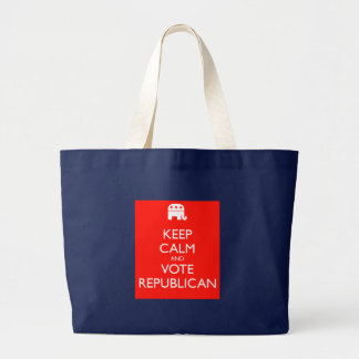 Keep Calm and Vote Republican' Jumbo Tote