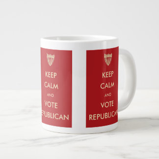 Keep Calm and Vote Republican Large Coffee Mug