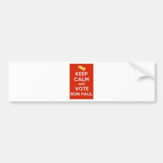 Keep Calm And Vote Ron Paul - Gold Standard Car Bumper Sticker