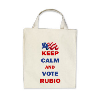 Keep Calm and Vote Rubio Tote Bags