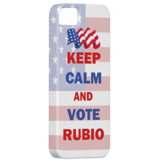 Keep Calm and Vote Rubio iPhone 5 Cases