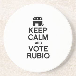 KEEP CALM AND VOTE RUBIO -.png Beverage Coaster