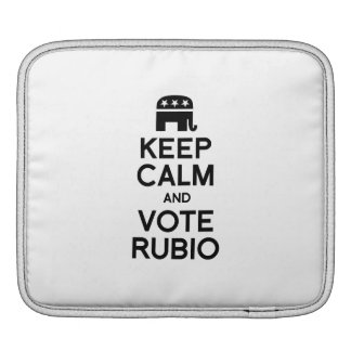 KEEP CALM AND VOTE RUBIO - png iPad Sleeve