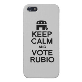 KEEP CALM AND VOTE RUBIO -.png Case For iPhone 5