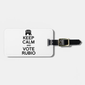 KEEP CALM AND VOTE RUBIO -.png Luggage Tags