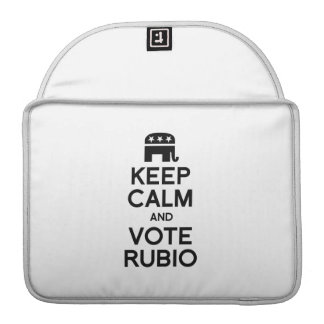 KEEP CALM AND VOTE RUBIO - png Sleeves For MacBooks