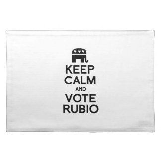 KEEP CALM AND VOTE RUBIO -.png Place Mat