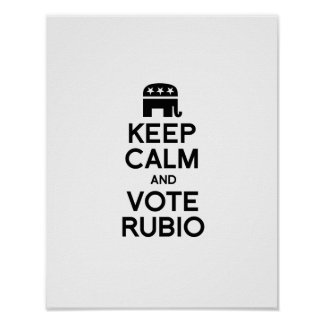 KEEP CALM AND VOTE RUBIO - png Poster