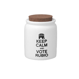 KEEP CALM AND VOTE RUBIO -.png Candy Dishes