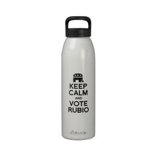 KEEP CALM AND VOTE RUBIO - png Reusable Water Bottles