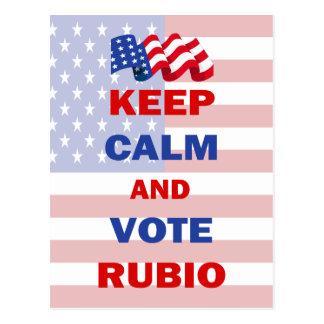 Keep Calm and Vote Rubio Postcard