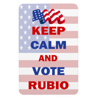 Keep Calm and Vote Rubio Magnets