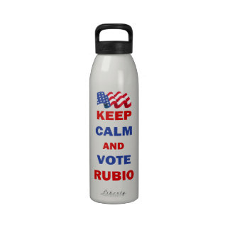 Keep Calm and Vote Rubio Drinking Bottle