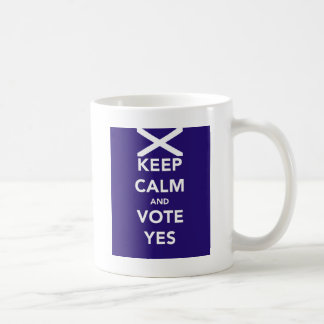 Keep calm and vote yes coffee mug